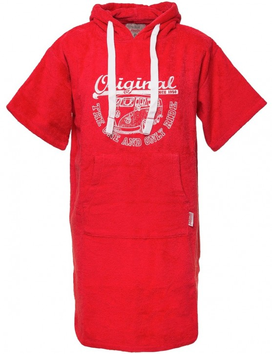 Surf Poncho VW Bulli ORIGINAL RIDE Red White