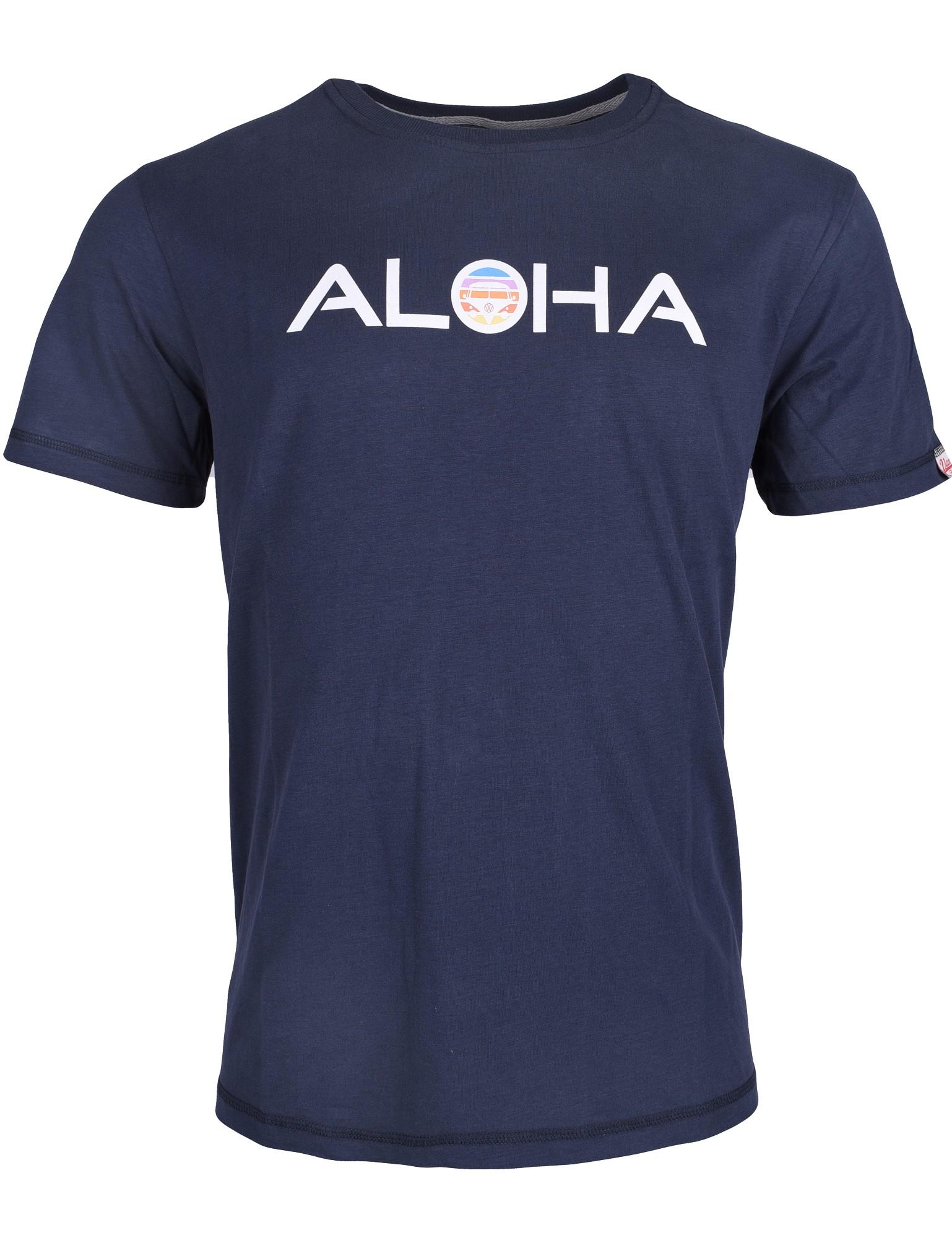 Herren T-Shirt VW Bulli »ALOHA RETRO« Blau