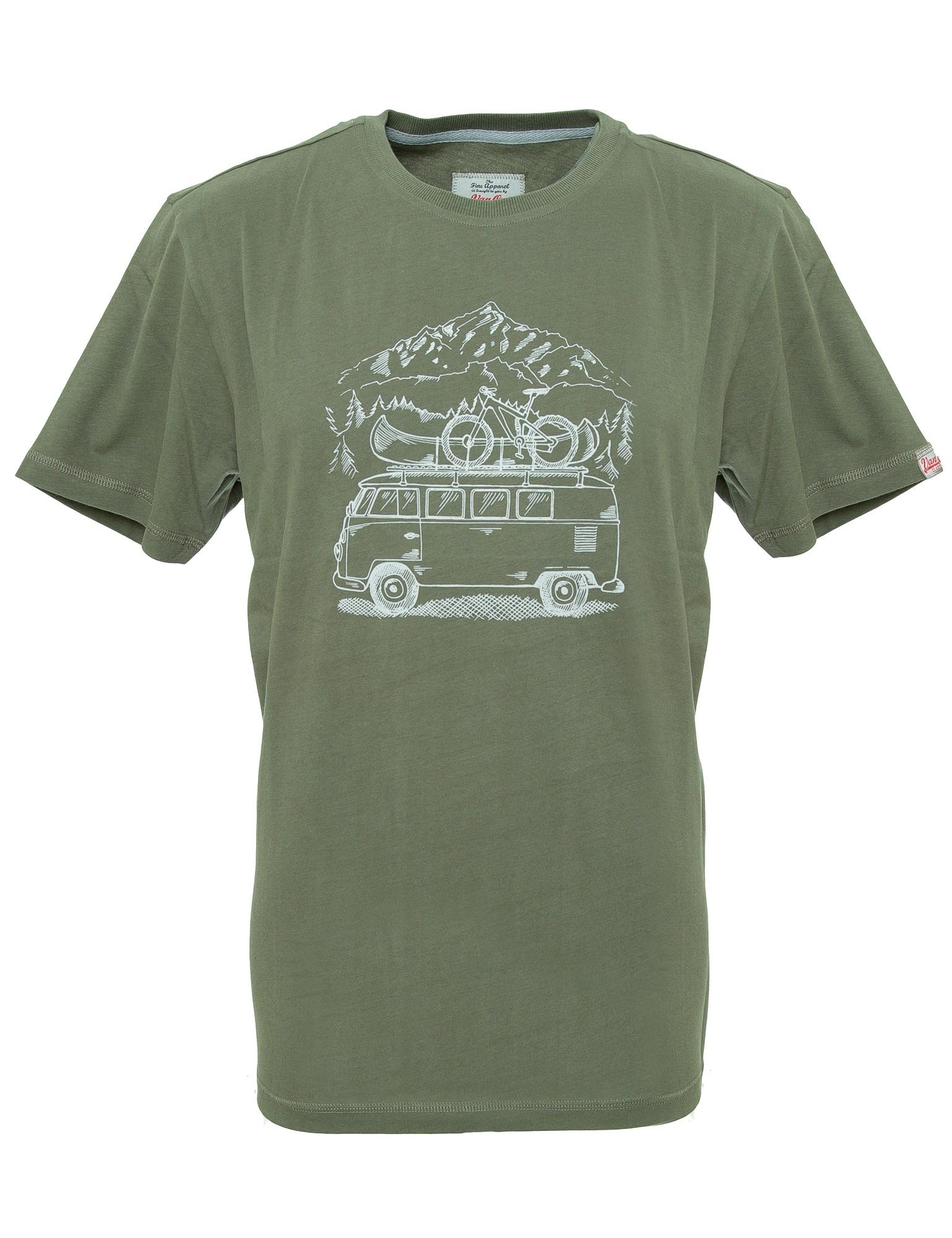 Herren T-Shirt VW Bulli »ZUGSPITZE« Olivgrün