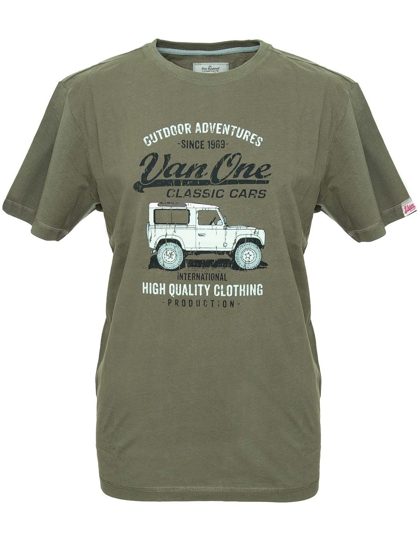Herren T-Shirt VW Bulli »LANDI« Grün Multi