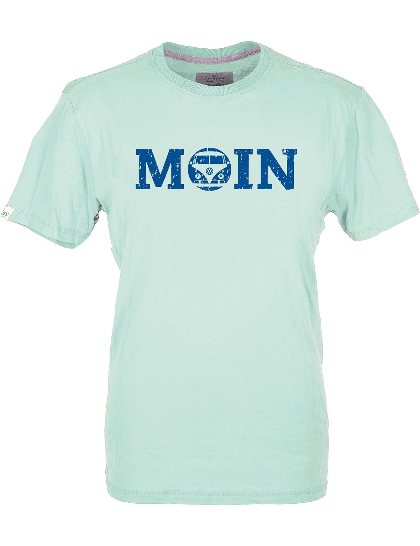 Herren T-Shirt VW Bulli »MOIN« Eisblau Blau