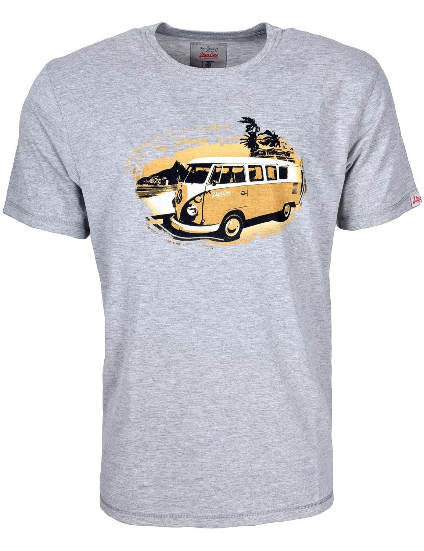 Herren T-Shirt VW Bulli »BRAZIL« Grau Orange