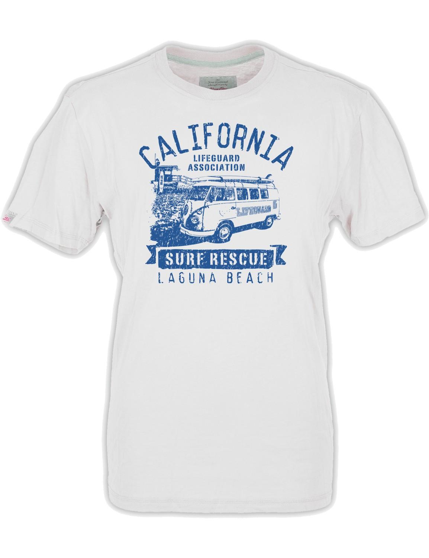 Herren T-Shirt VW Bulli »LAGUNA« Weiß Blau