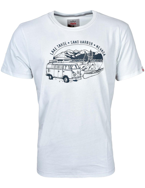 Herren T-Shirt VW Bulli »LAKE TAHOE« Eisblau Grau