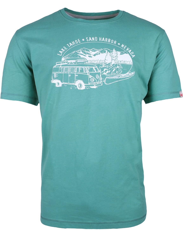 Herren T-Shirt VW Bulli »LAKE TAHOE« Grün Weiß