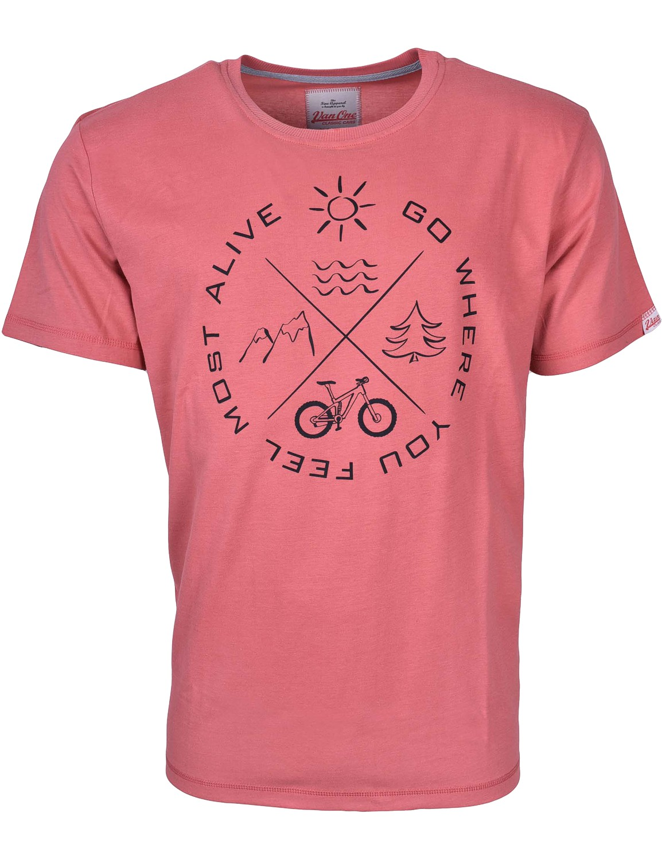 Herren T-Shirt VW Bulli »MOST ALIVE« Rot Schwarz