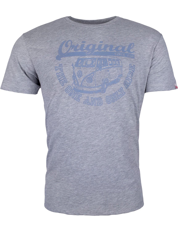 Herren T-Shirt VW Bulli »ORIGINAL RIDE« Grau Blau