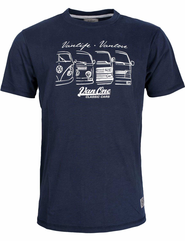 Herren T-Shirt VW Bulli »We are Family« Blau