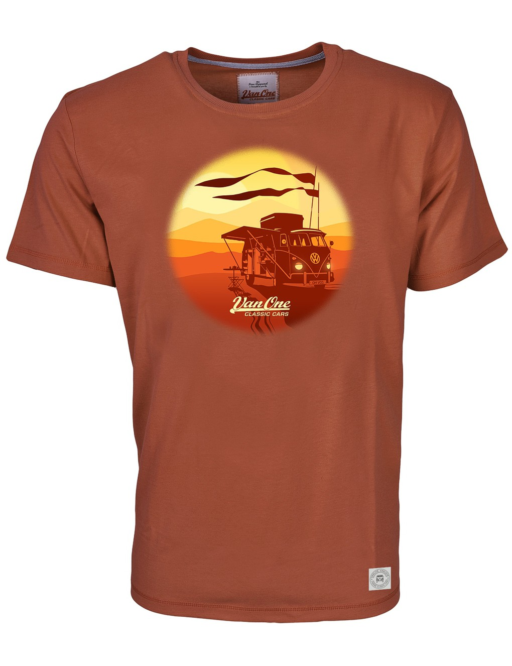 Herren T-Shirt VW Bulli »SOUL FLAGS« Braun