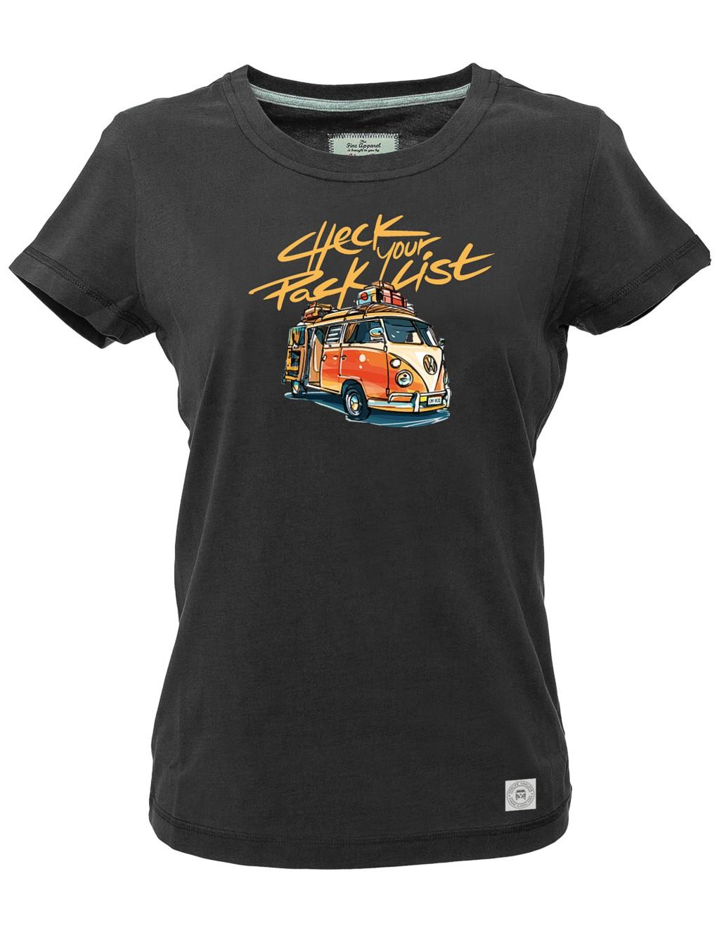 Damen T-Shirt VW Bulli »PACK LIST« Schwarz