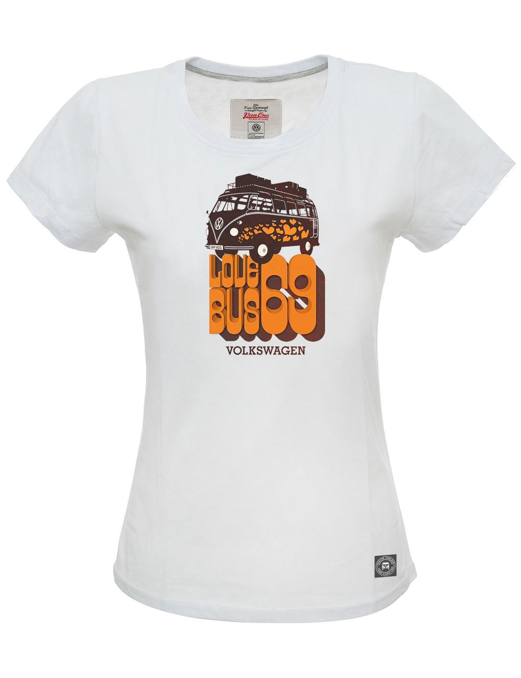 Damen T-Shirt VW Bulli »LOVE BUS« Weiß