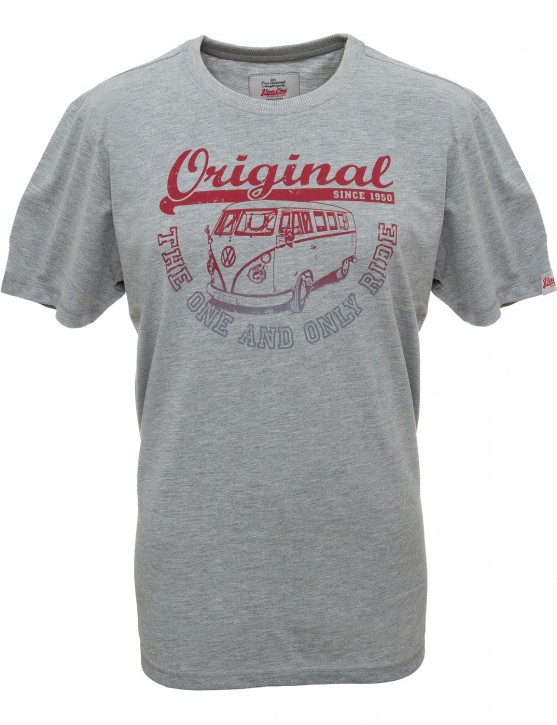 Herren T-Shirt VW Bulli »ORIGINAL RIDE« Grey Red Grey