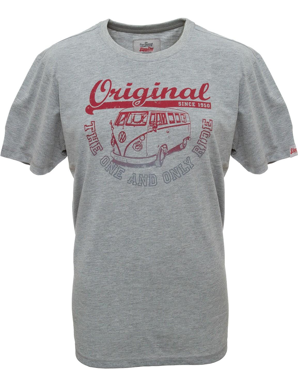 Herren T-Shirt VW Bulli »ORIGINAL RIDE« Grey Red Grey