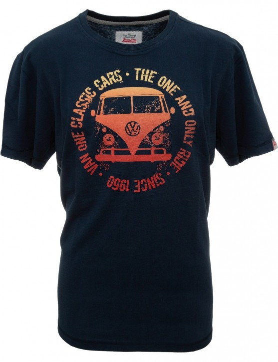 Herren T-Shirt VW Bulli »BULLI FACE USED« Navy