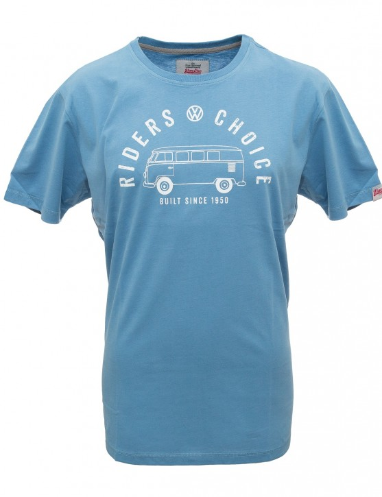 Herren T-Shirt VW Bulli »RIDERS CHOICE« Blue White