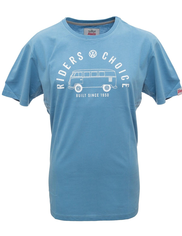 Herren T-Shirt VW Bulli »RIDERS CHOICE« Blue White