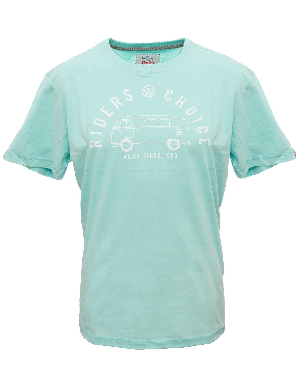 Herren T-Shirt VW Bulli »RIDERS CHOICE« Light Blue White