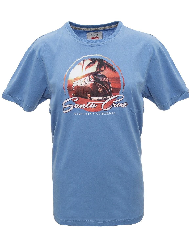 Herren T-Shirt VW Bulli »SANTA CRUZ« Blau