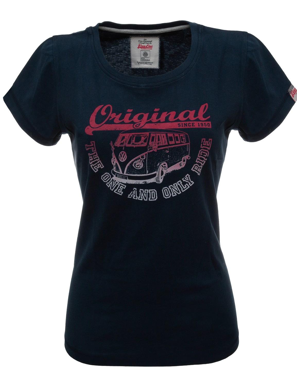 Damen T-Shirt VW Bulli »ORIGINAL RIDE« Navy Red Grey