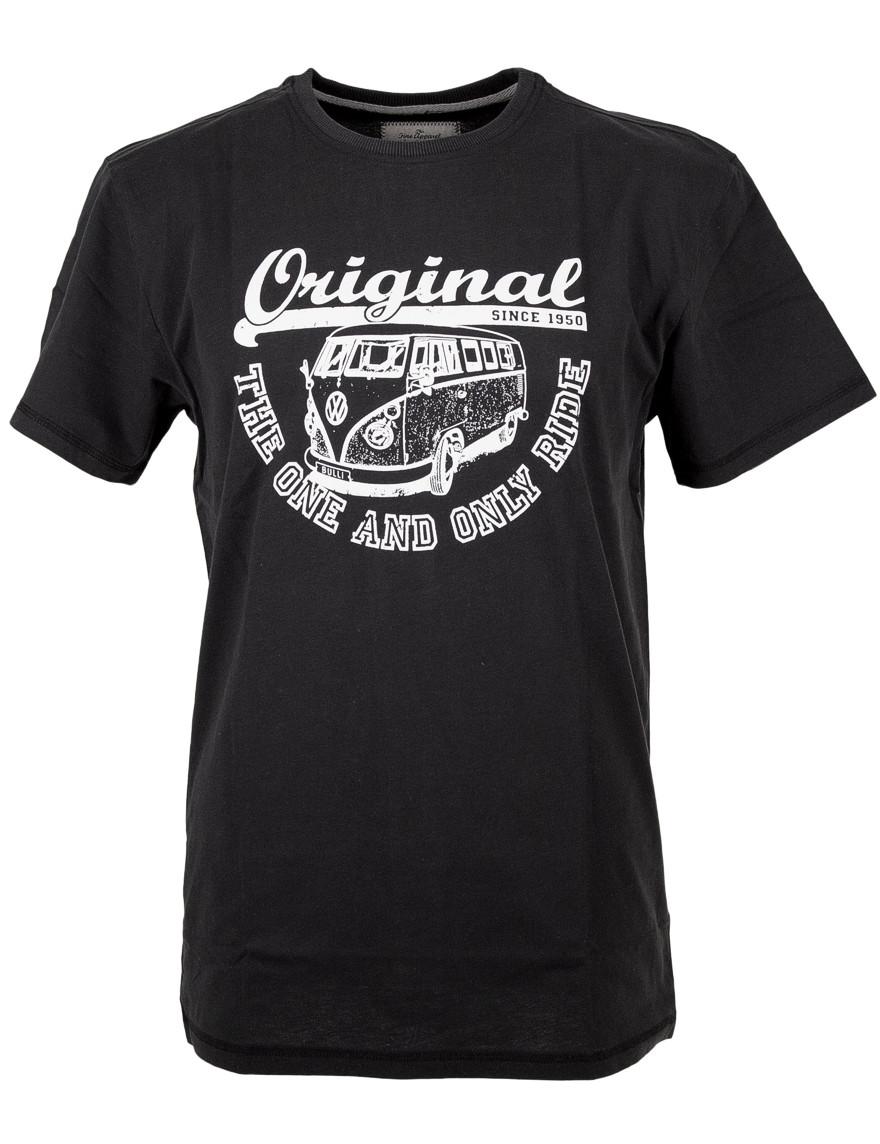 Herren T-Shirt VW Bulli »ORIGINAL RIDE« Schwarz Weiß