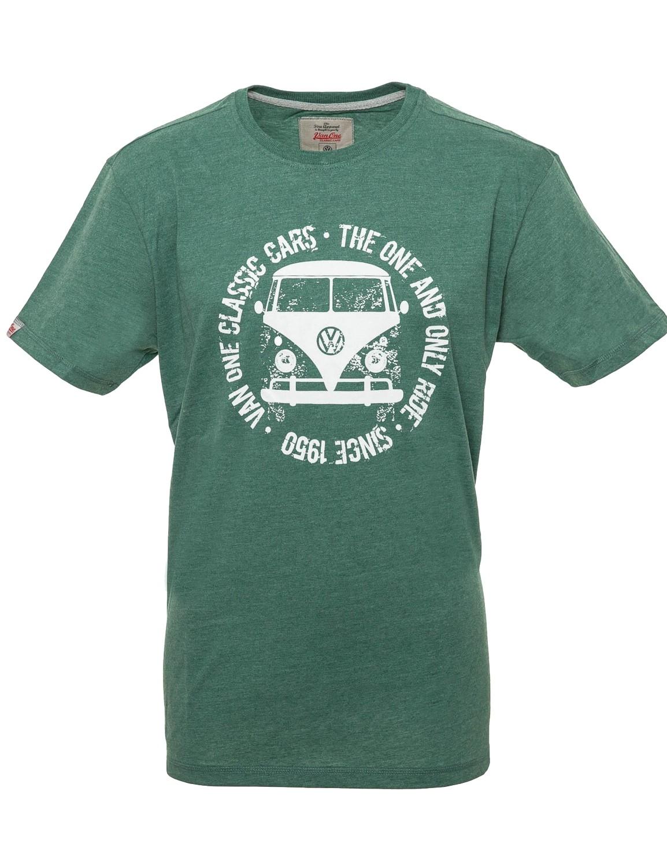 Herren T-Shirt VW Bulli Bulli FACE USED New Green / White