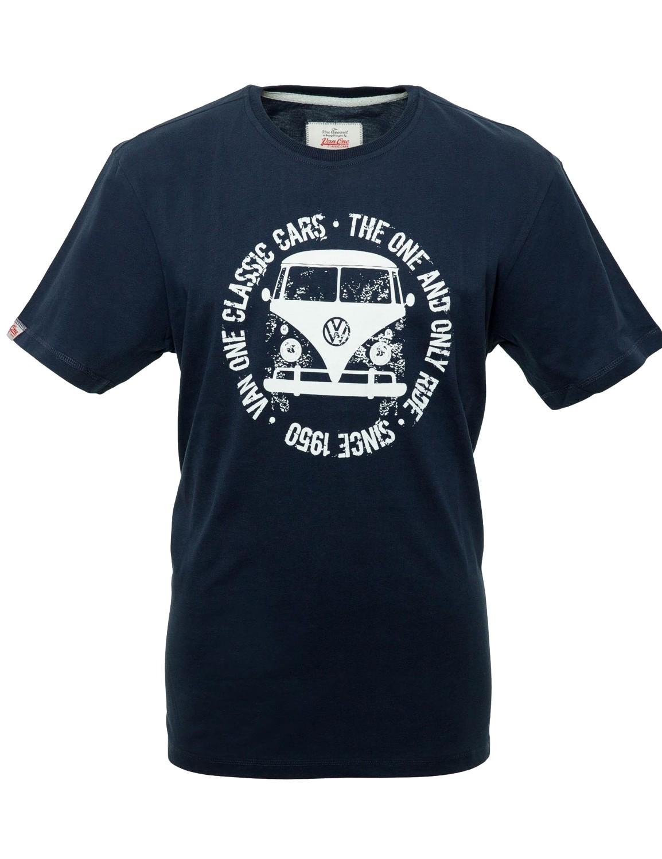 Männer T-Shirt Van One VW BULLI »BULLI FACE USED« Navy / White