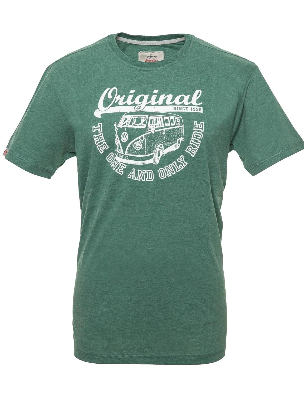 Herren T-Shirt VW Bulli ORIGINAL RIDE New Green / White