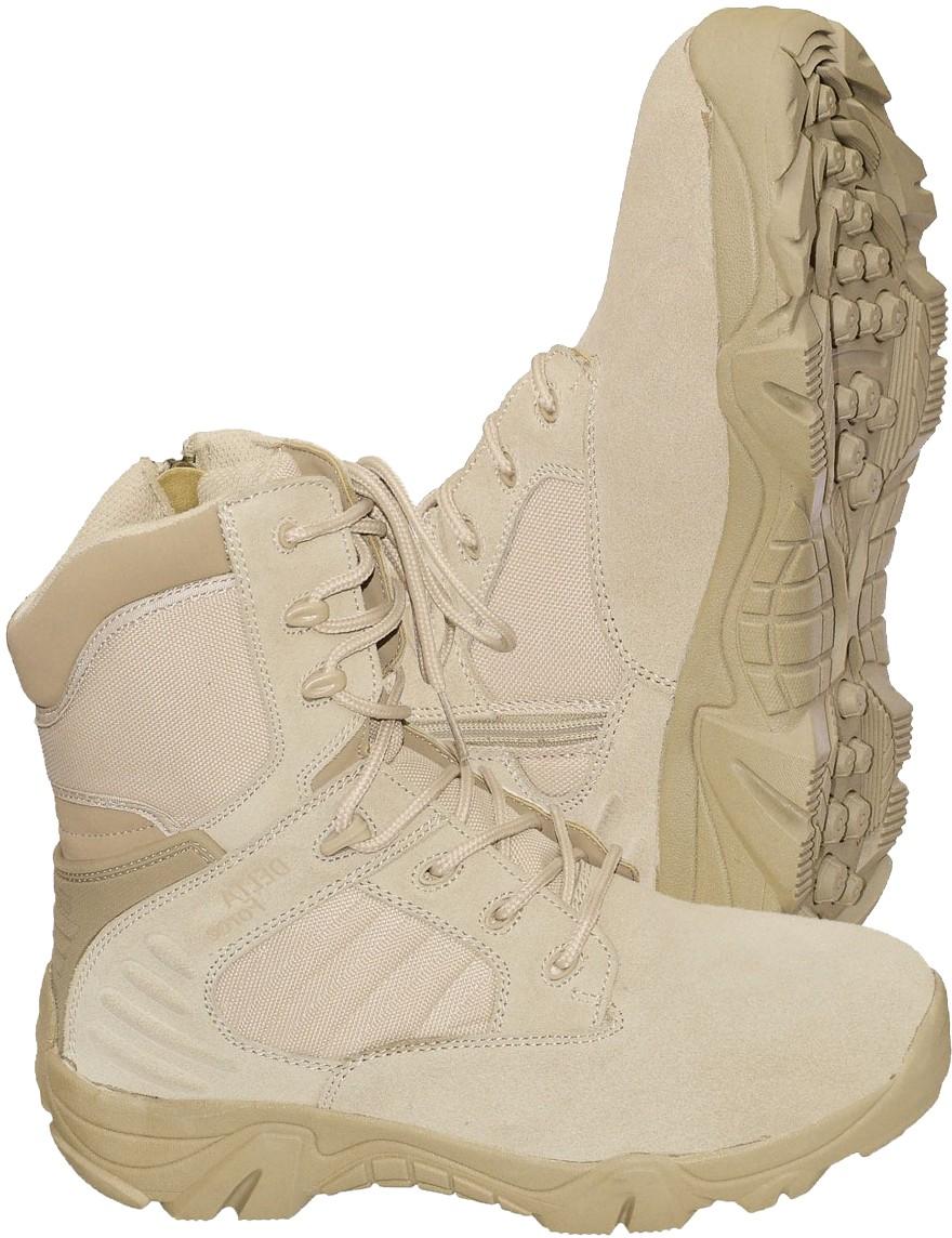 Army Kampfstiefel mit Reißverschluß Springerstiefel »Delta-Force« Beige