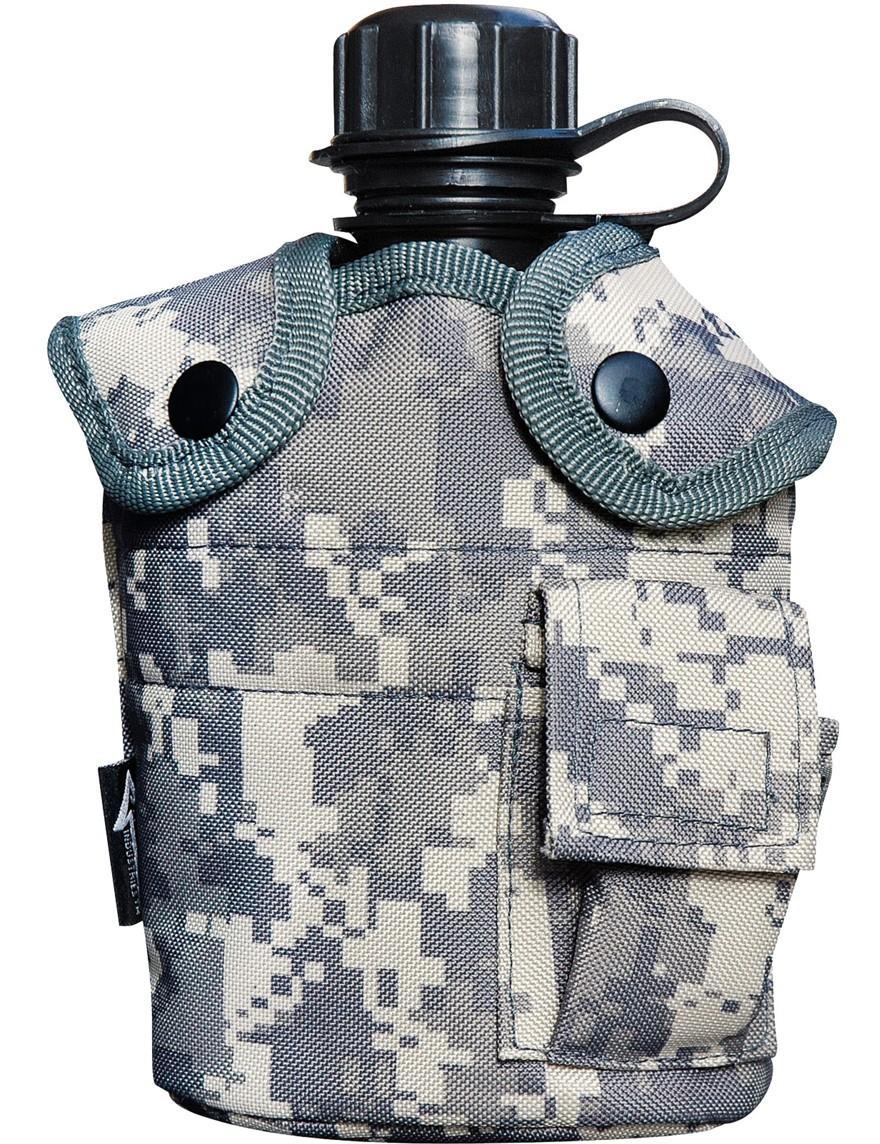 Feldflasche Outdoor Army Trink Flasche ca. 0.8 L Camouflage ACU -Tarn