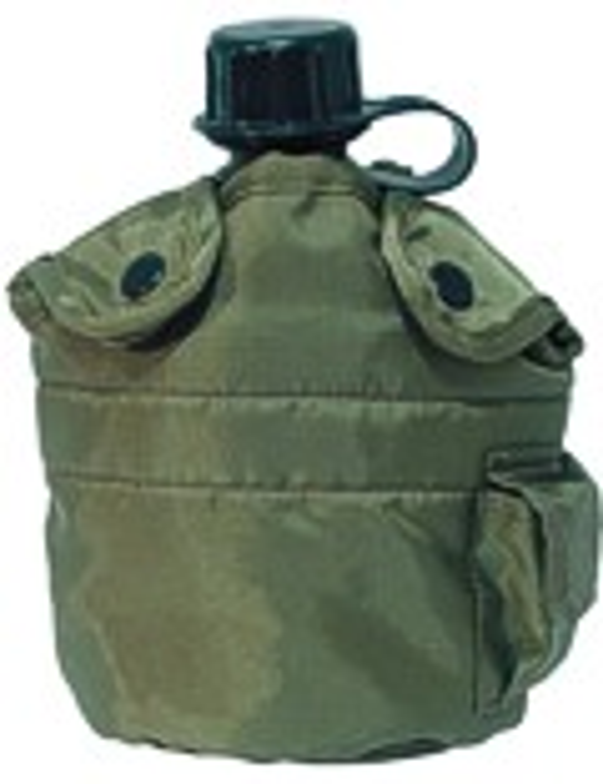 Feldflasche Outdoor Army Trink Flasche ca. 0.8 L Grün Oliv