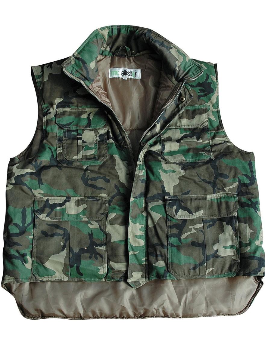 Arbeitsweste Rangerweste Steppweste Outdoor Camouflage Woodland Gr.S