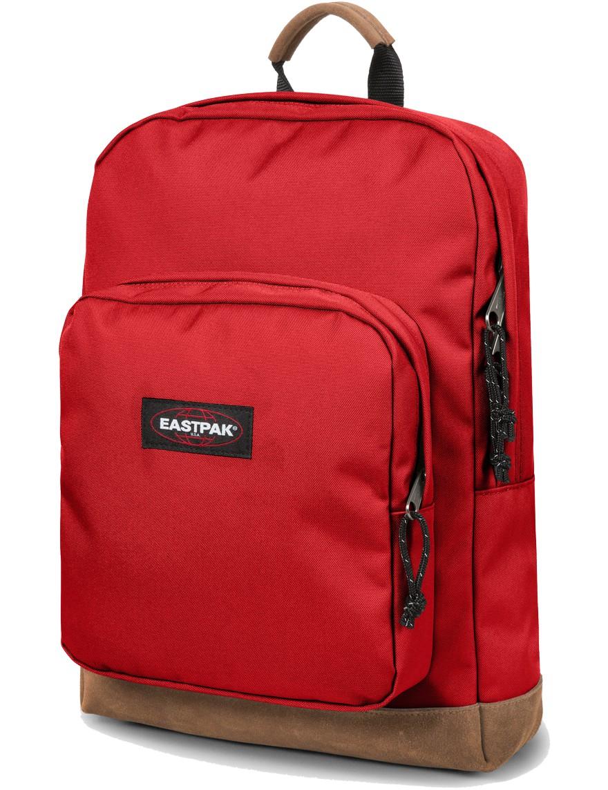 Eastpak Rucksack »Houston« mit Laptopfach Lederboden Apple Pick Red Rot