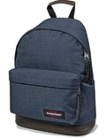Eastpak Rucksack »Wyoming« mit Lederboden Double Denim Jeans Blau