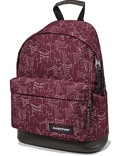 Eastpak Rucksack »Wyoming« mit Lederboden Merlot Blocks