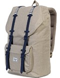 Herschel Rucksack »Little America« Light Khaki Croßhatch Peacoat