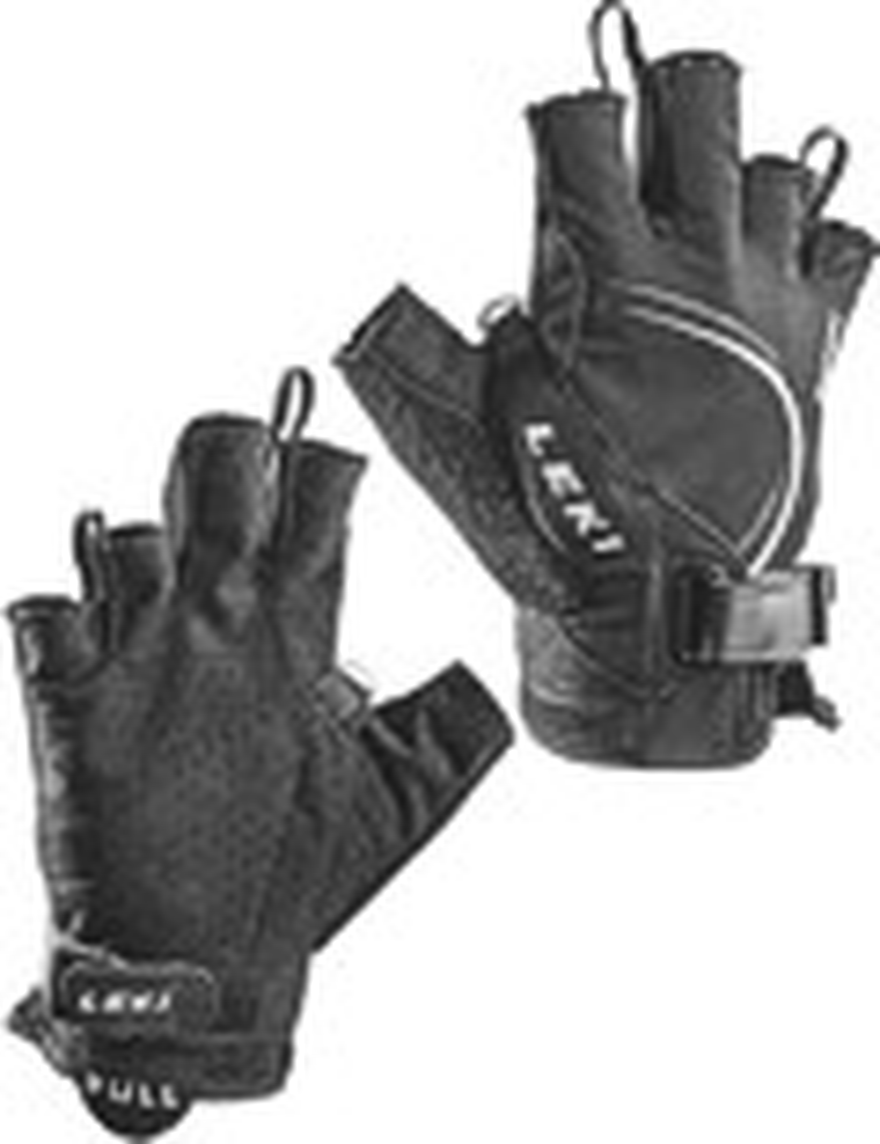 LEKI Handschuhe »Nordic Lite Shark Short« Schwarz-Weiß