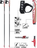 LEKI Nordic Walking Stöcke »Flash Carbon« Schwarz Rot