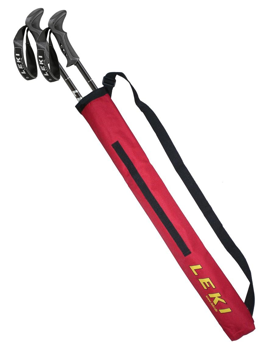LEKI Trekking Stocktasche Pole Bag für 1 Paar Stöcke Rot