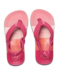 REEF Girls Kinder-Sandalen Sandels »LITTLE AHI« Pink Stripes