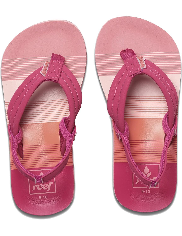 REEF Girls Kinder-Sandalen Sandels »LITTLE AHI« Pink Stripes