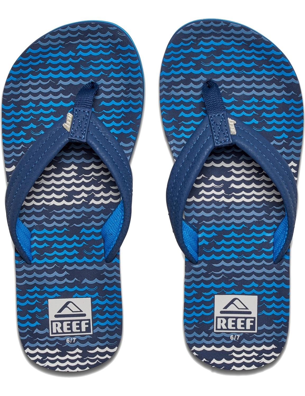 REEF Boys Kinder-Sandalen Sandels »AHI« Blue Horizon Waves