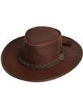 Scippis Leder Westernhut Cowboyhut »Kangaroo Dawson« Brown Braun
