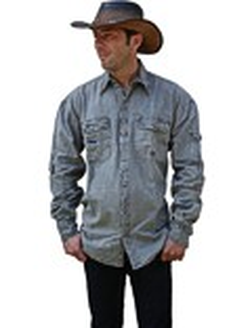 Scippis »Cowra« Canvas Shirt im Hemden-Style Grey