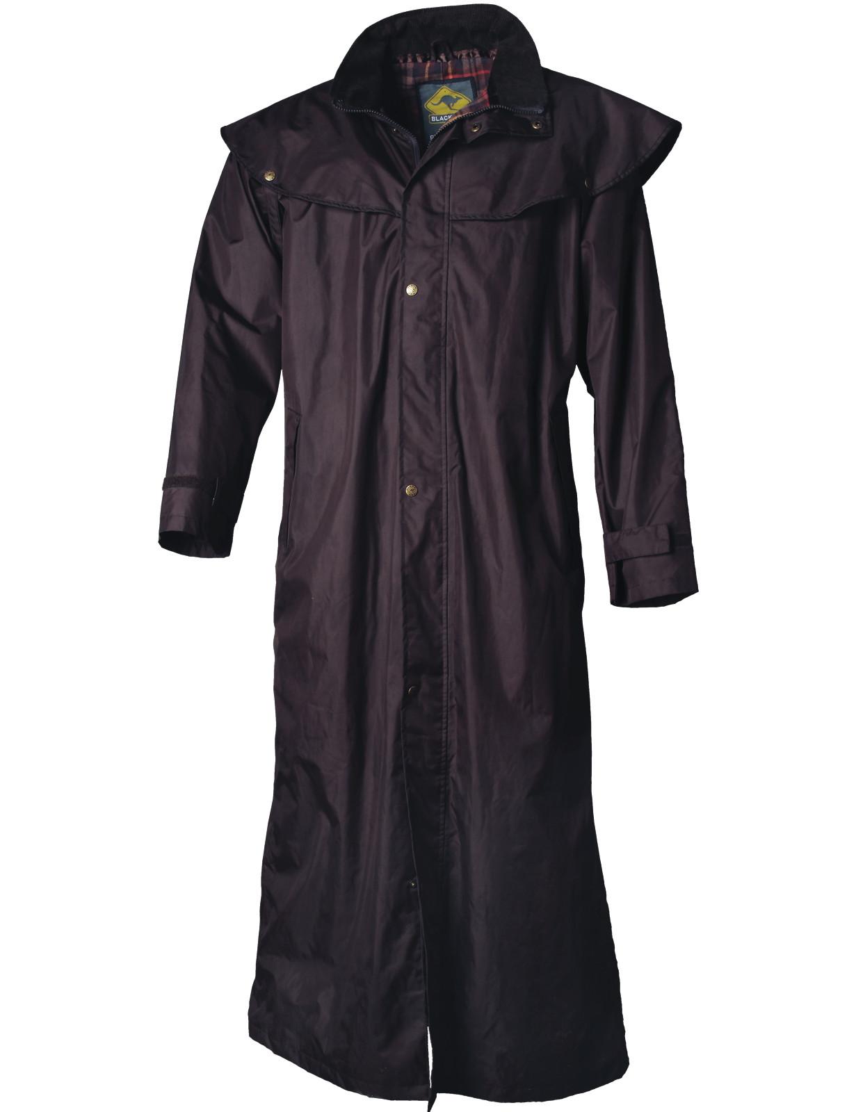 Black Roo »Stockman Coat« Mantel für Cowboys Biker BRAUN