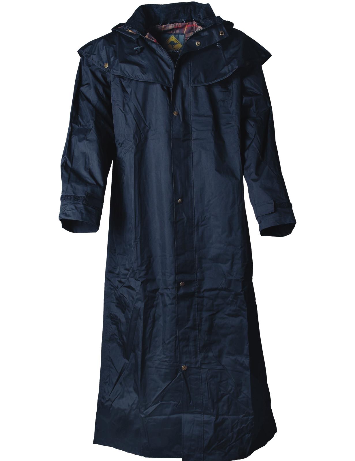 Black Roo »Stockman Coat« Mantel für Cowboys Biker SCHWARZ