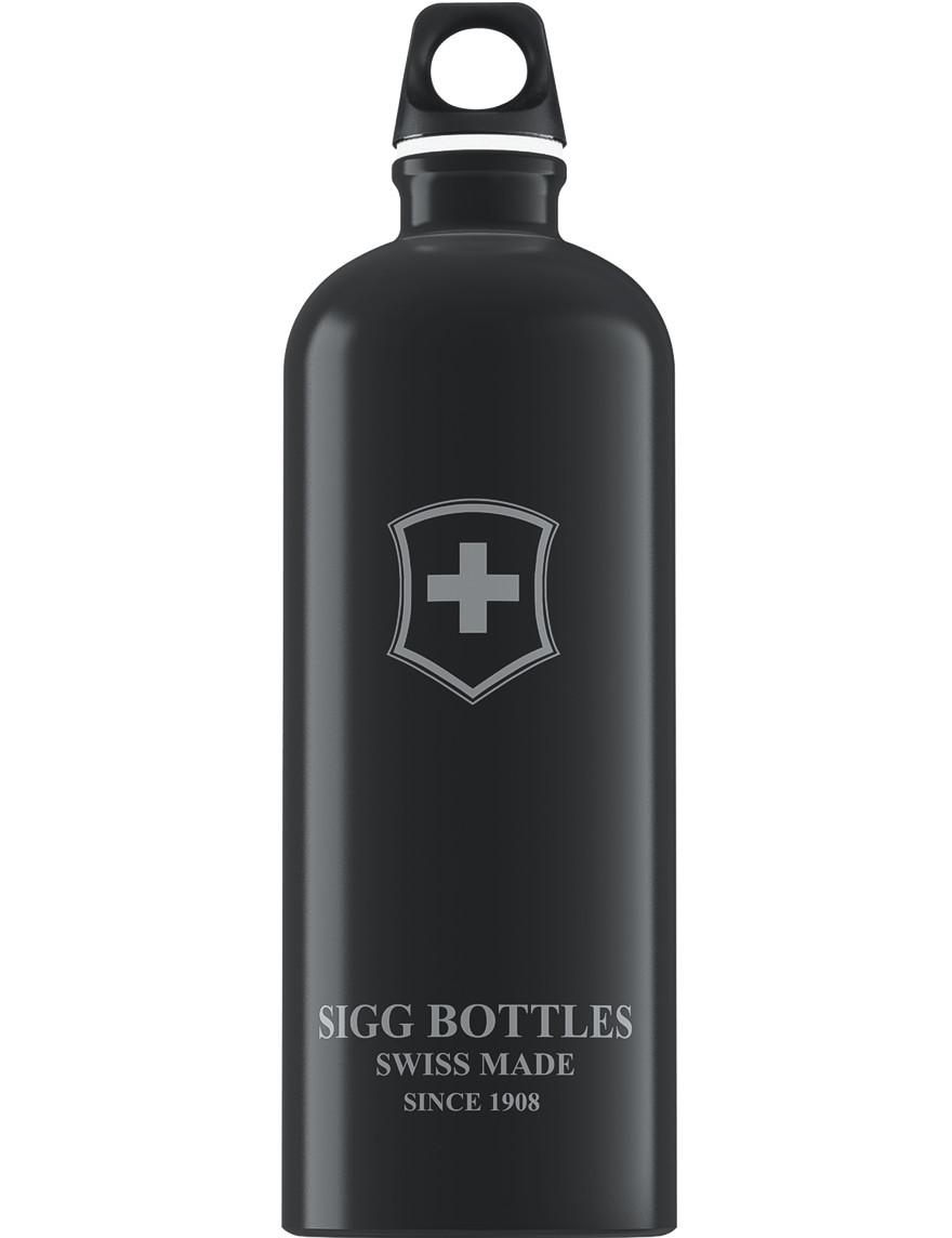 SIGG Trinkflasche 1.0 l Swiss Emblem Schwarz