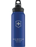 SIGG Trinkflasche 1.0 l Wide Mouth Swiss Emblem Blau Touch