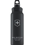 SIGG Trinkflasche 1.0 l Wide Mouth Swiss Emblem Schwarz Touch