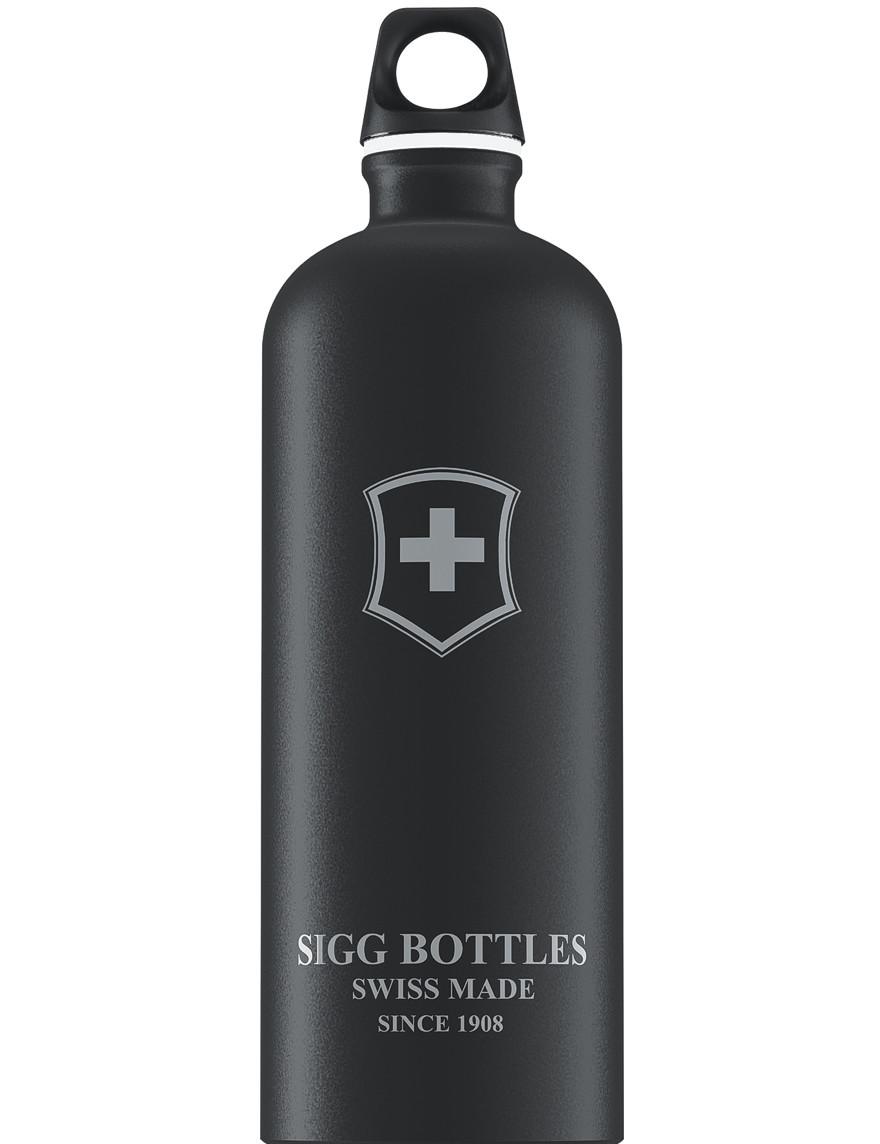 SIGG Trinkflasche 1.0 l Swiss Emblem Schwarz Touch