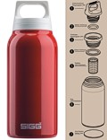 SIGG »Hot & Cold« Thermosflasche Isolierflasche 0.3 L Rot